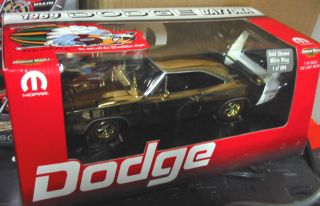Ertl 1 18 1969 Dodge Daytona Charger Gold Chrome w White Wing 1 of 204