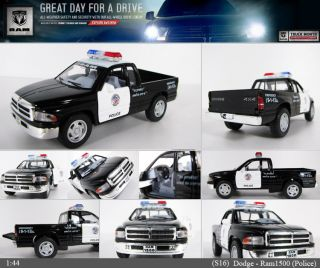 Dodge Ram Police 144, 5 Diecast Mini Cars Toys Kinsmart KT5018P No