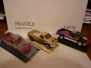 Hot Wheels 2 Dodge RAM Ford F150 Box Set Lot of 3 Trucks