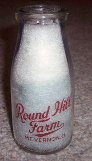 Round Hill Farm MT Vernon Ohio Milk Bottle