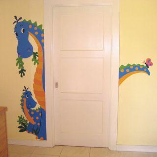 Wallies Peek A Saurus Large Dragon Mural Stickers New