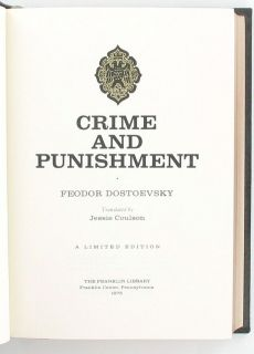 Crime and Punishment Dostoevsky Classic Russian Novel Book