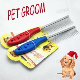 Double Sided Pet Dog Grooming Brush Dog Cat Hair Trimmer Comb