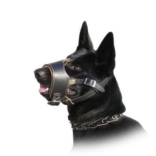 Royal German Shepherd Nappa Leather Dog Muzzle   product code M63