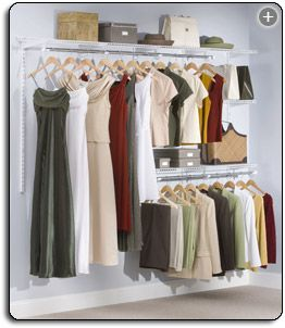 Classic Custom Rubbermaid Configurations 4 to 8 Foot Closet