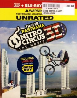 NITRO CIRCUS 3D / Blu ray / DVD + Slipcover BEST BUY EXCLUSIVE