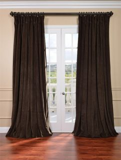 Java Double Wide Velvet Blackout Pole Pocket Curtains & Drapes