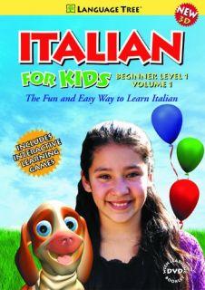 Beginner Level I Vol. 1   Italian Learning 3D DVD For Children Tree