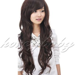 New Women Long Fashion Full Curly Hair Wig 3 Colors Available Free
