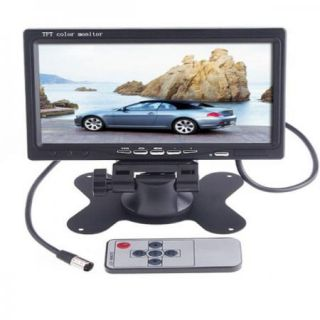 Picture7 TFT LCD Color Car Rearview Headrest Monitor DVD VCR New