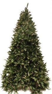 Good Tidings Douglas Fir Artificial Prelit Christmas Tree 7 1 2 Feet