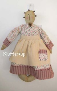 Prim Primitive Homespun Fabric Rag Doll COUNTRY GIRL NWT