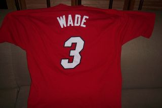 Dwayne Wade Miami Heat Basketball Jersey Shirt Size Large