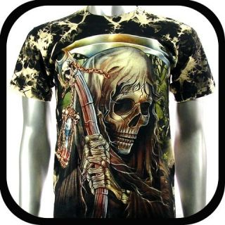 Rock Eagle T Shirt Biker Skull Devil Tattoo RE7 Sz M Rock Punk Heavy