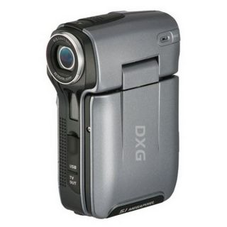 DXG USA 83 11728 Silver DXG 563V 5MP Camcorder Digital Voice Recorder