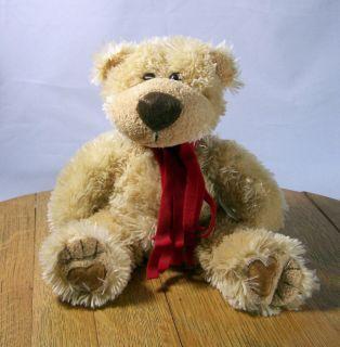 Teddy Bear 12 Plush Brown Dennis Foland Sureshot Scarf Around Neck