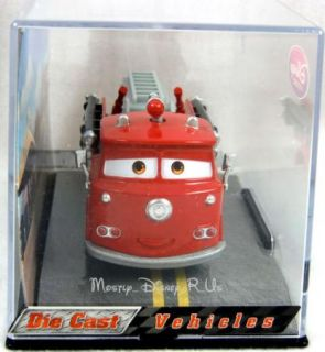 Disney Store Cars 2 Red Fire Engine Diecast Collectors