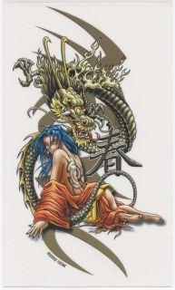 Chinese Dragon Anime Geisha Tattoo Sticker Decal RARE