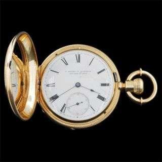 Howard Co 18kt Gold Pocket Watch CA 1870S