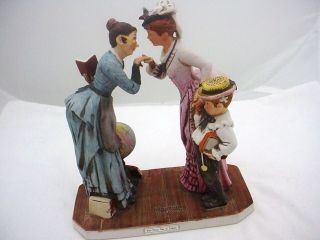 1978 Dave Grossmans Norman Rockwell First Day of School Figurine