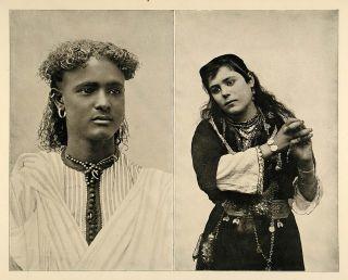 1893 Chicago Worlds Fair Nubian Boy Cairo Dancing Girl Original