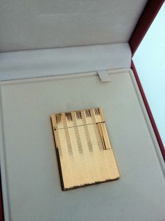 Dupont Gold Line 1 Lighter RARE Vertical Horizontal Line BNIB