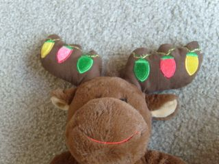 Build A Bear Stuffed Plush Animal Hal Moose Christmas Lights Reindeer