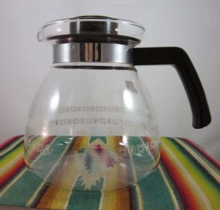 Vintage Melitta 8 Cup Replacement Floral Coffee Pot Lid
