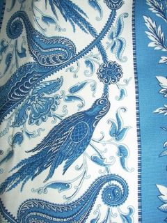 Victorian Chic Bird Floral Toile Drapes Curtains 5 Pieces