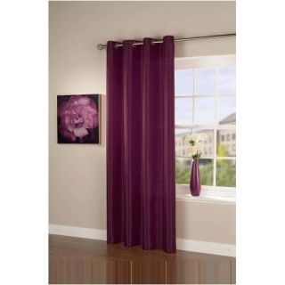 Taffeta Faux Silk Curtain Pair 55 x 90 Drop BNIP Aubergine