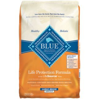 �Buffalo�Large Breed Adult Dry Dog Food Chicken & Brown Rice 30lb