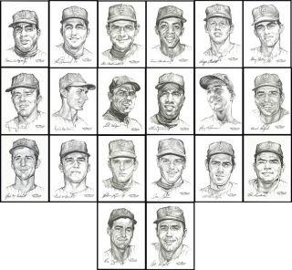 1969 New York Mets Portfolio of Stars 20 Set by The Daily News Artist