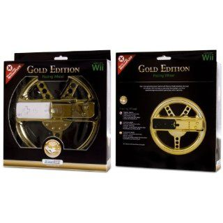 DreamGear Gold Edition Motion Plus Racing Steering Wheel Nintendo Wii
