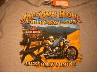 Article  Jackson Hole Harley Davidson XL T Shirt Screamin Eagle Parts