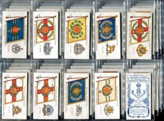 Tobacco Card Set John Player Regimental Colours Cap Badges 1907