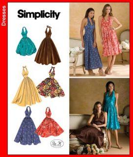 Retro Vintage Repro Rockabilly Halter Dress Sewing Pattern 6 22