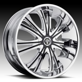 26 x9 5 Dub Mamba Chrome 5 6 Lug Wheels Rims