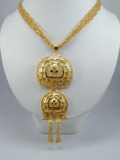 Amazing Dubai Design East India Set 24K 22K Gold GP Thai Necklace