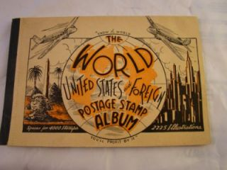 The World United States & Foreign Postage Stamp Album 1940 With some