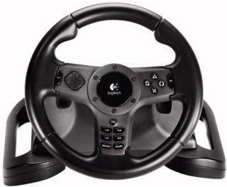Logitech Driving Force Wireless Gaming Wheel PS3 PS2