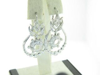 Doris Panos 18K White Gold 1 cttw F vs Diamond Dangle Earrings $8500