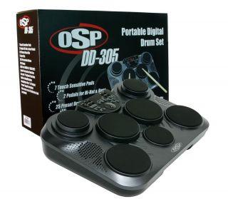 OSP DD305 Portable Digital Electric Drum Set Kit New