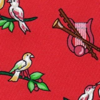 Yellow Songbirds & Harps Green Olive Branch Red Tie 7593 SA NR 1