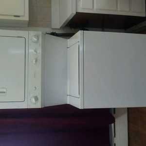 Maytag stackable washer/dryer. Apartment size. Google maytag model
