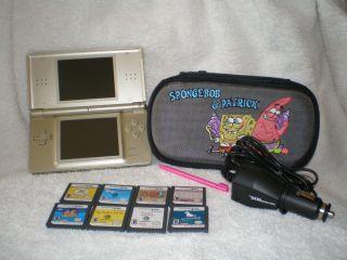 Nintendo DS Lite Legend of Zelda Gold Edition 8 Games Car Charger Case