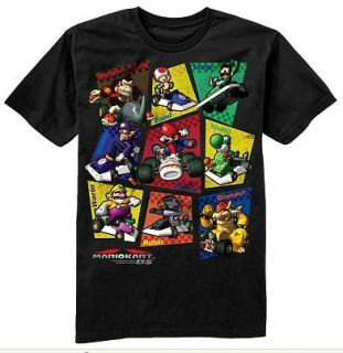 Nintendo Mario Kart DS Shirt Tee Boys Black 8