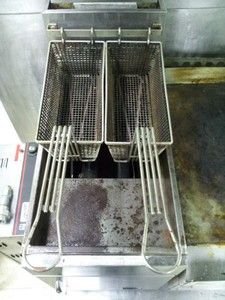 commerical star table top gas double fryer