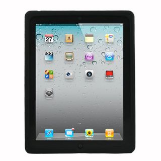 Black Silicone Case Cover Skin Shell for iPad 2 2G 2nd