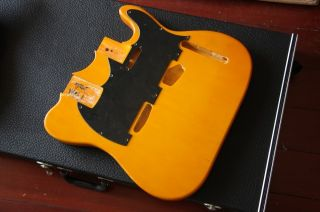 Yellow Double Neck Body for Bass Guitar Custom Combo Model