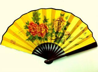 SS Fans Antique Fan Juniper Cedar Tree Bamboo Silk Fans Chinese